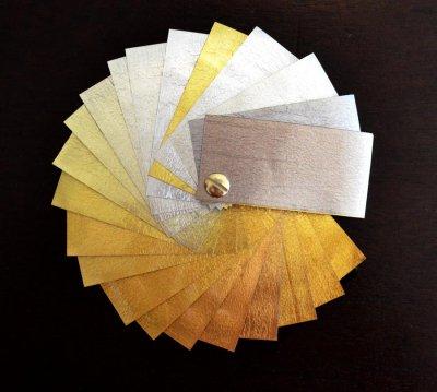 types de feuilles d'or